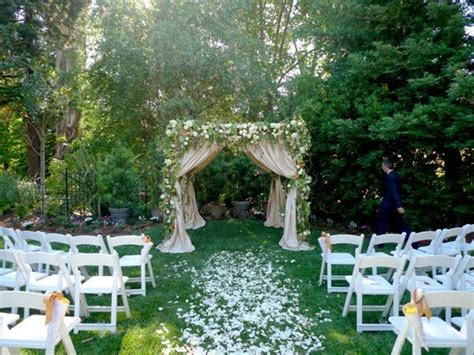 how to set up a backyard wedding best 25 small outdoor weddings ideas on pinterest