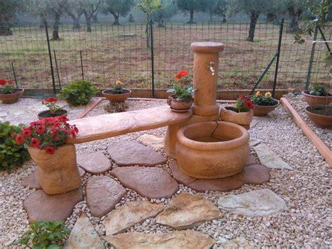 giardino con fontana fontana azalea con panchina r c di rinaldi geom franco