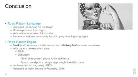 grok pattern language regex considered harmful use rosie pattern language instead