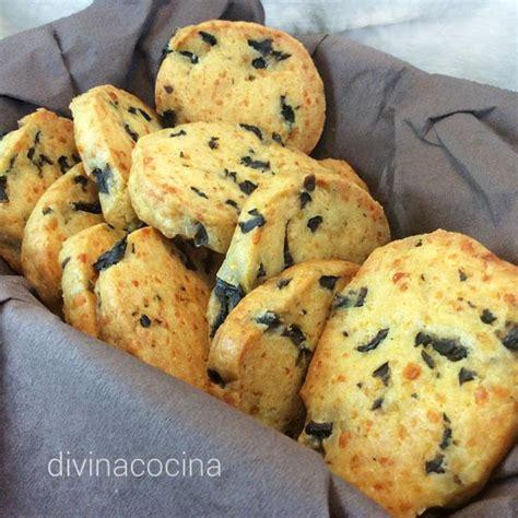 recetas galletas saladas galletas saladas de queso y aceitunas divina cocina
