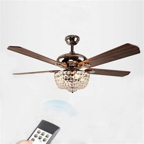 ceiling fans with crystals country style led lights fan chandelier