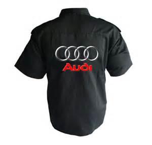 Audi Shirt Race Car Jackets Audi Crew Shirt Black