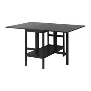 Ikea Drop Leaf Dining Table Barsviken Drop Leaf Table Black 45 90 135x93 Cm Ikea