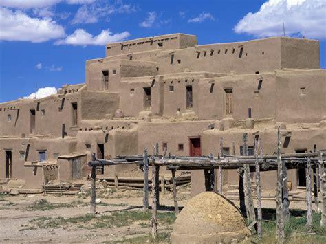 Pueblo Adobe Homes by Taos Pueblo Taos New Mexico 1600x1200 Picture Taos Pueblo