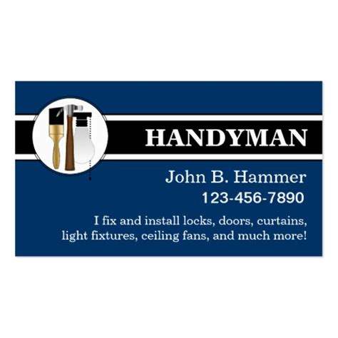 handyman business card template handyman business cards zazzle
