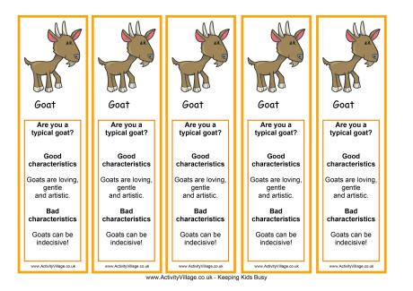 new year goat characteristics year of the goat bookmark