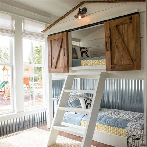 Barn Door Bunk Beds This Custom Built Bunk Bed For The Matsumoto House Was Such A Project Bunk Beds Turned