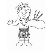 Printable Bagpiper Scotland Coloring Pages