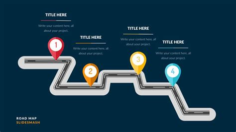 Free Roadmap Powerpoint Slides Ppt Presentation Theme Road Map Powerpoint Template Free