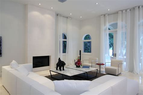 Houzz White Living Rooms by Modern Living Room