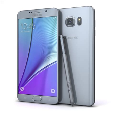 Samsung Galaxy Note 5 Smartphone Silver 3d samsung galaxy note5 silver model