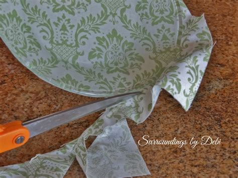 How To Decoupage Fabric - how to decoupage glass plates with fabric