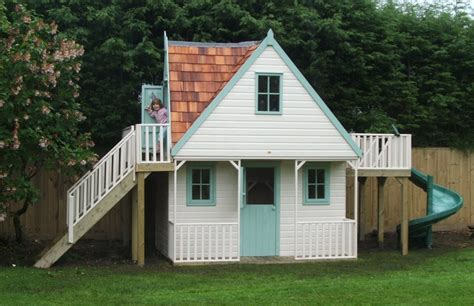Who Played In House by Childrens Chalet Playhouse With Spiral Slide Playhouses The Playhouse Company