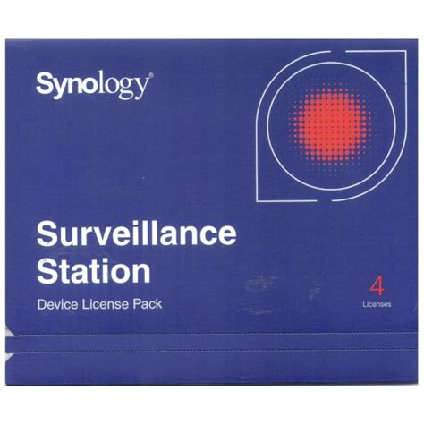 synology ip synology ip 4 license pack kit for surveillance