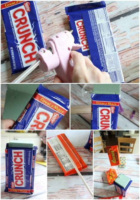 How To Make A Gift Card Bouquet - how to make a large candy bar bouquet ehow party invitations ideas