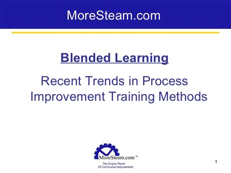 recent trends in process improvement methods