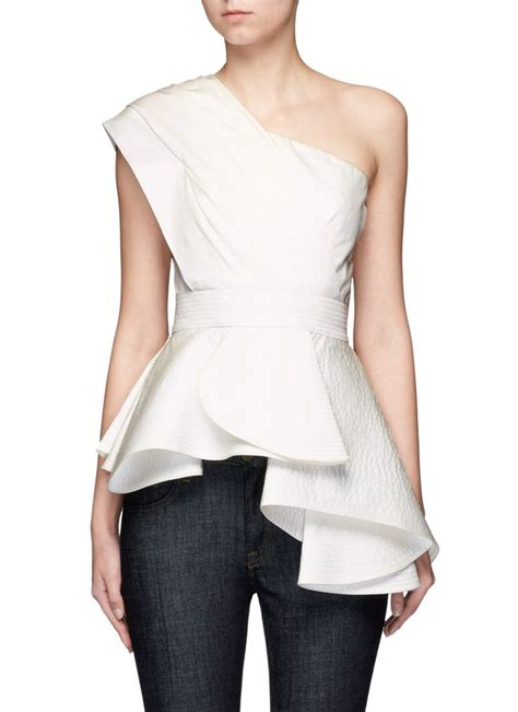 The Shoulder Ruffle Top 25 best ideas about one shoulder on one