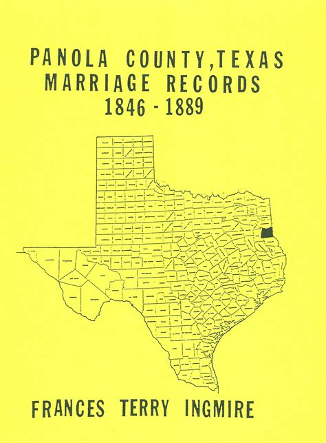 Marriage Records Harris County Panola County Marriage Records 1846 1889 Southern Genealogy Books