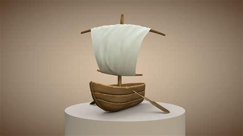 cartoon boat 3d model cartoon boat c4d