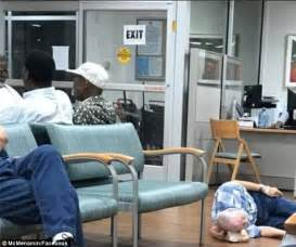 Va Emergency Room by Photo Of Patient On The Floor At Va Hospital