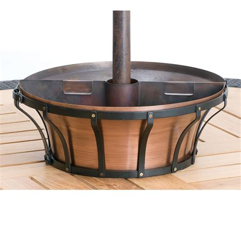 black basket patio umbrella planter at hayneedle