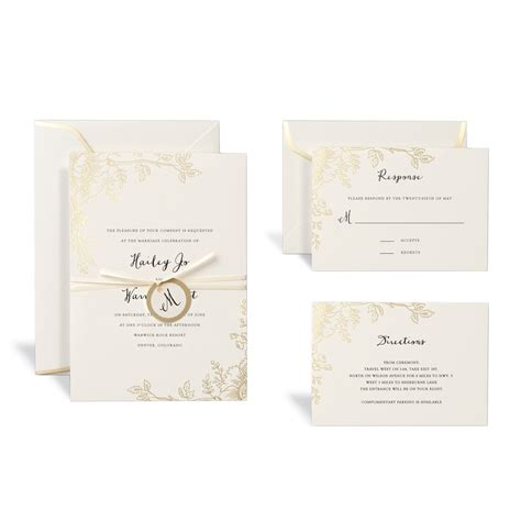 Celebrate It Templates For Wedding Programs Shop For The Floral Gold Wedding Invitation Kit By Celebrate It At Michaels