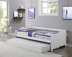 White Wood Daybed With Trundle Single 3ft Day Bed White Frame With Trundle Solid Wood Daybed New Ebay