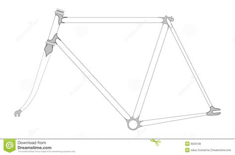 Bicycle Frame Bagpouch For Cycyling bicycle frame stock vector image of lugged lugs cycling