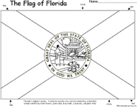 flag of florida printout enchantedlearning com