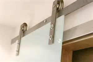 Barn door hardware with glass sliding door contemporary salt lake