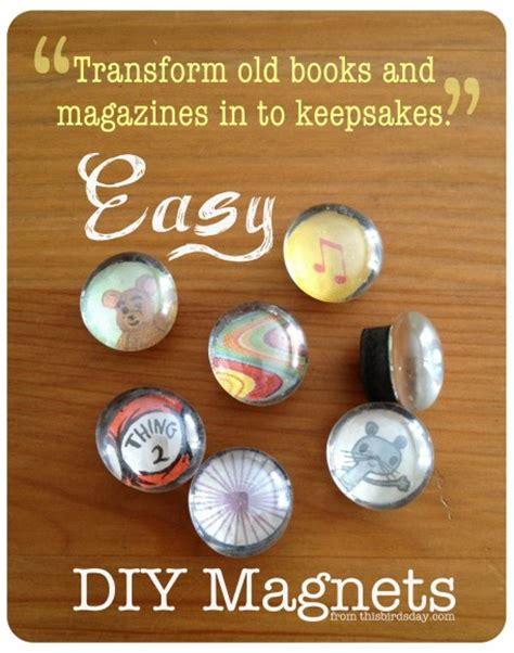 Handmade Fridge Magnets Ideas - easy diy magnets for gifts and more this
