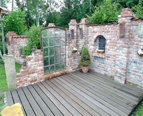 steinmauer garten mauersteine naturstein gartenmauer