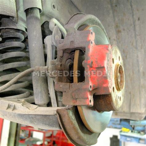2003 mercedes benz cl class front brake replacement slk300 slk350 rear brake pad replacement diy