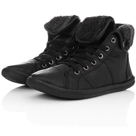 high top boots buy isla shearling hi top trainer shoes black leather