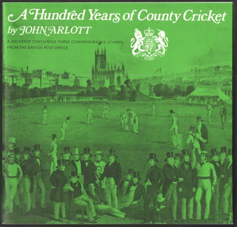 Great Britain Country Cricket 1973 Fd Cover books specials etc jerwood philatelics booklets and sts of great britain