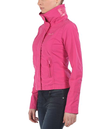 jacket bench bench bbq c light hooded jacket in pink lyst