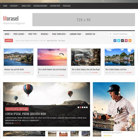 html magazine themes 20 news website html5 templates free premium themes