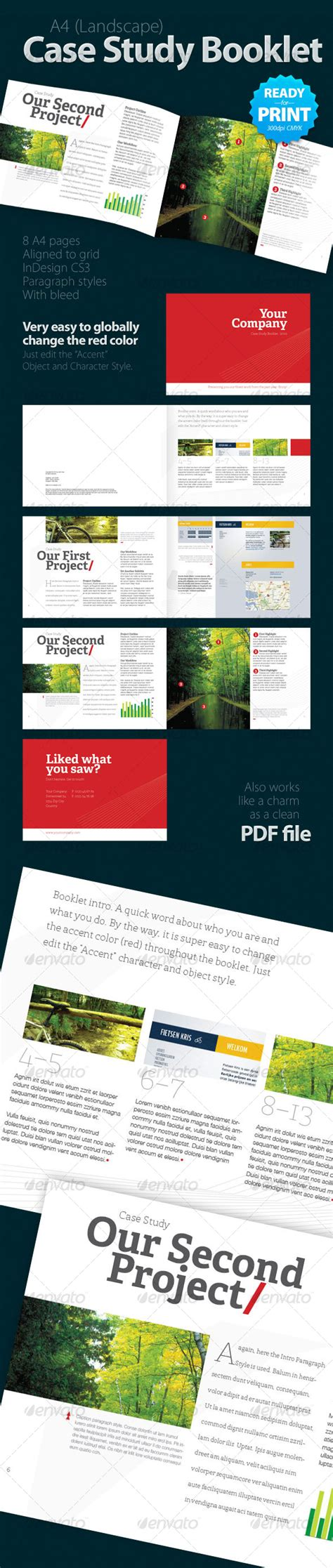 document layout pinterest case study booklet 8 pages by geertdd graphicriver