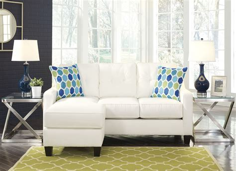 aldie nuvella sofa chaise sleeper aldie nuvella white sofa chaise from coleman