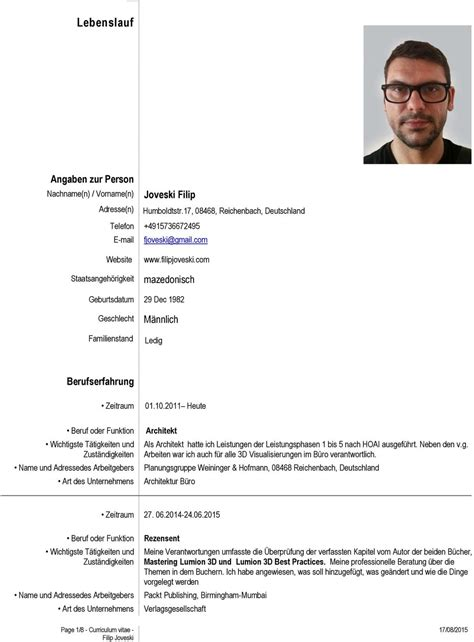 Lebenslauf Nach 10 Jahren Berufserfahrung Lebenslauf Angaben Zur Person Joveski Filip Mazedonisch M 228 Nnlich Berufserfahrung Nachname