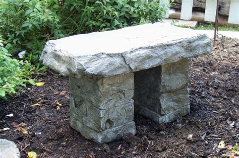 memorial garden benches stone amazon com quot garden bench quot cast stone granite rock bench
