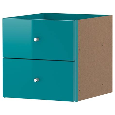 Drawers For Expedit by Expedit Insert With 2 Drawers High Gloss Turquoise