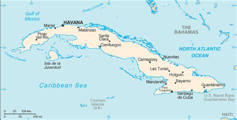 map of cuba cities list of cities in cuba