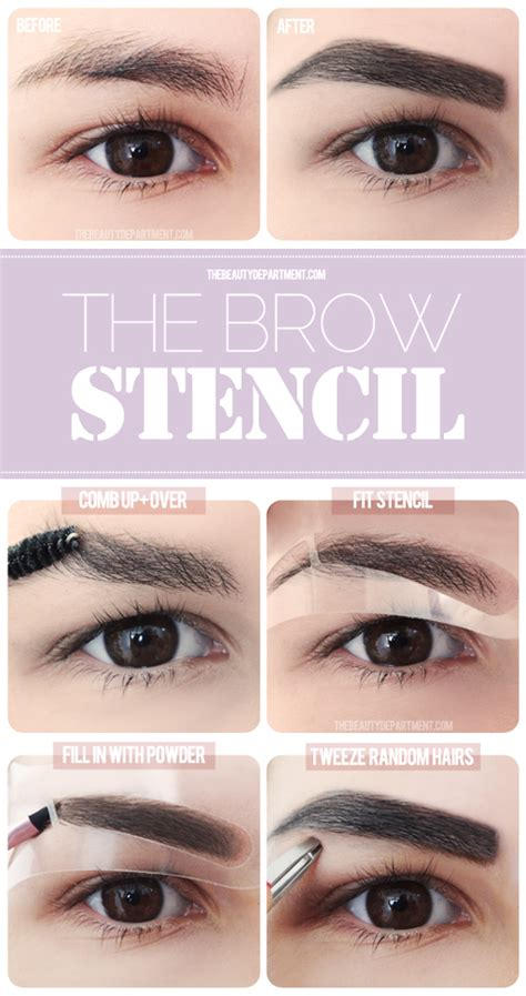 eye brow templates the fashion co all things eyebrows