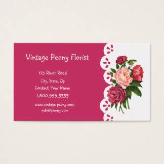 flower shop business card template free vintage flower shop business cards templates zazzle