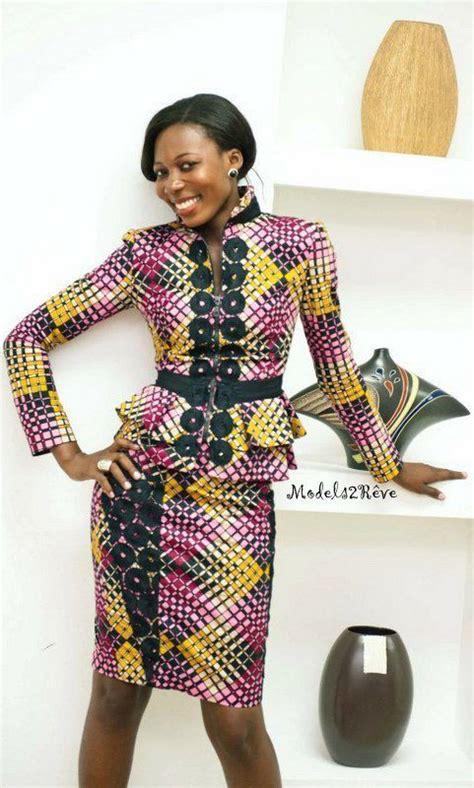 tenues africaines en tissu pagne photos ensemble tailleur en pagne africain fashion