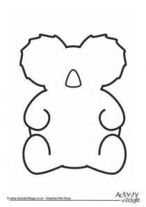 template of koala koala template