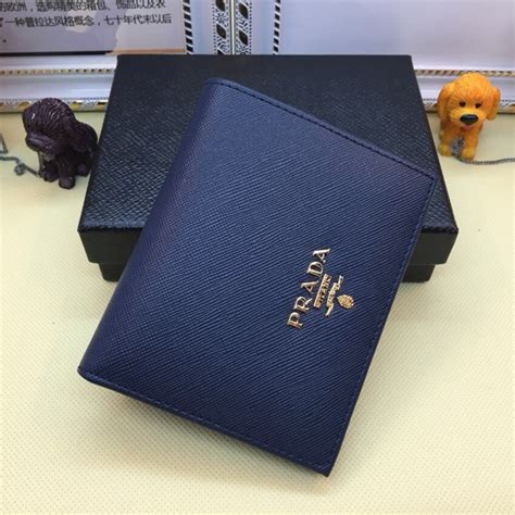 dompet prada bifold saffiano navy mirror quality 1 prada 1m0204 bifold small wallet saffiano leather navy