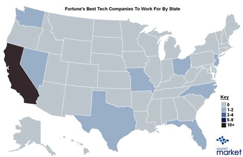 silicon valley usa map map best tech companies to work for business insider