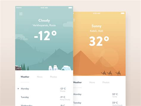 application design concepts 50 best weather app design inspiration creative specks